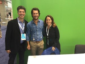 Lisa and Lee with Blake Mycoskie, Founder of TOMS shoes