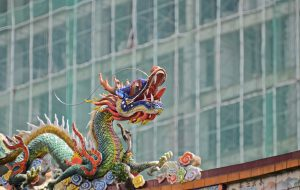 Dragon sculpture - China's First Exchange-traded Fund