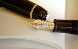 Fountain pen ink gold writing - etfs