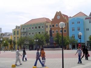 Dutch Culture on Brionplein Square in Wilhemstad, Curacao