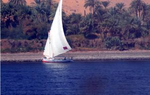 Dhow traversing the Nile near Aswan - IRA