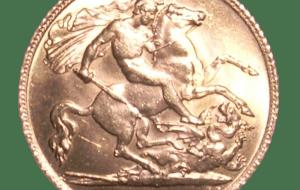 Reverse of a 1915 (George V) half-sovereign - Sovereign Debt