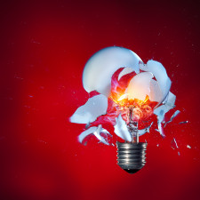 High-speed photography of a light bulb shot with an airsoft pistol (positioned right of the lamp). Stefan Krause, Germany - Investors