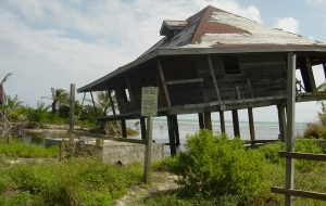Hurricane damaged home in San Pedro, Belize