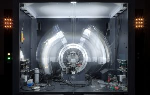 X-Ray crystallography is a tool used for identifying the atomic and molecular structure of a crystal. The movement of the machine during 80 second scan can give different view on how relatively slow scientific measurements can look frozen in time by shutter speed of 90 seconds Diamond in the rough