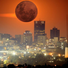 Super-moon over Johannesburg - alternative asset