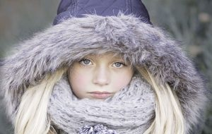 Portrait of beautiful girl in warm clothing - Your legacy