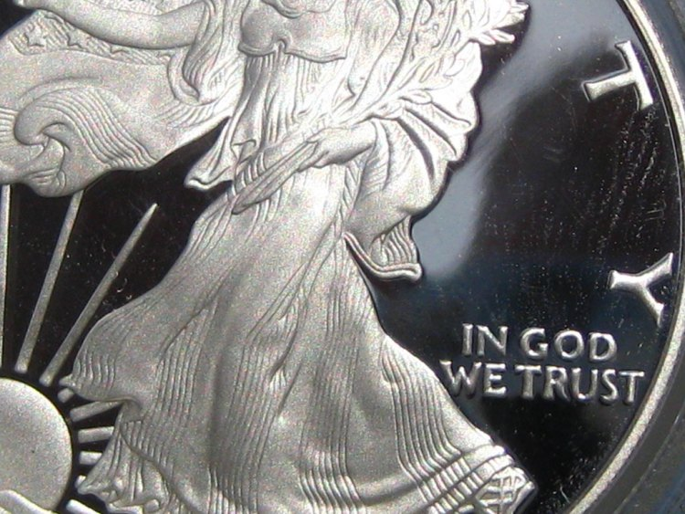 In God we trust bullion shares