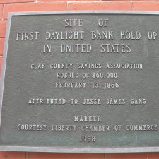 First Daylight Bank Robbery Marker