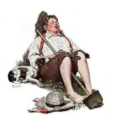 Norman Rockwell - Boy with hoe