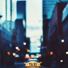 bokeh taxi urban