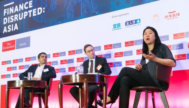 Neo Financial CEO, Linda Wong, seated on the right, with McKinsey partner, Vinayak HV, on the left.