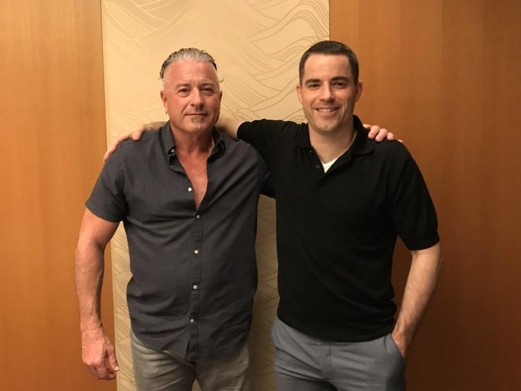 Calvin Ayre with Roger Ver, Oct 2017 (PRNewsfoto/Calvin Ayre Media Group)