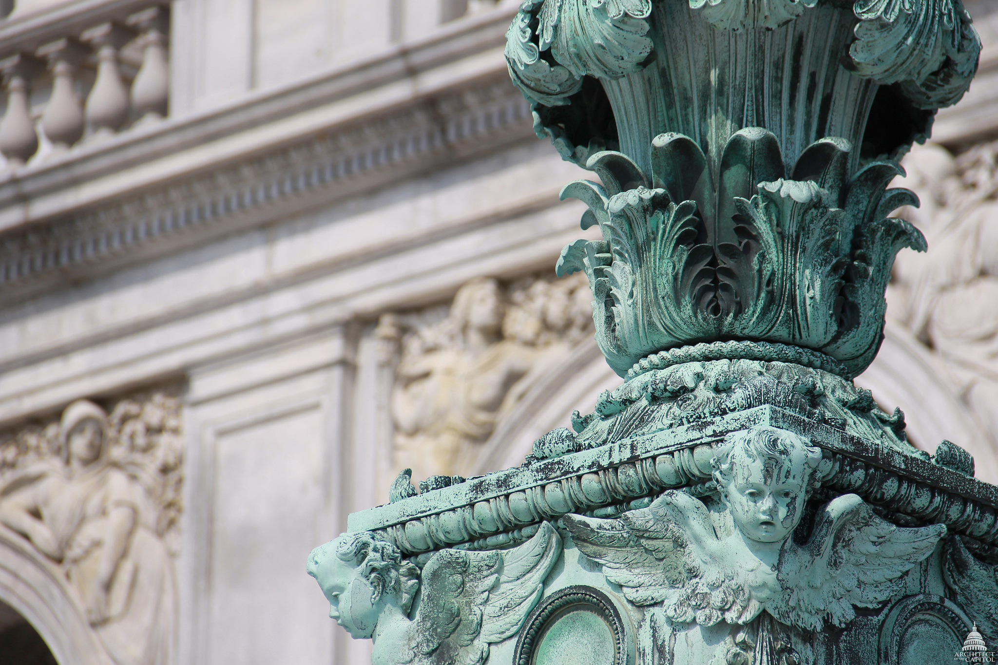 Tax Legislation - Details of Lantern in front of the Library of Congress Thomas Jefferson Building