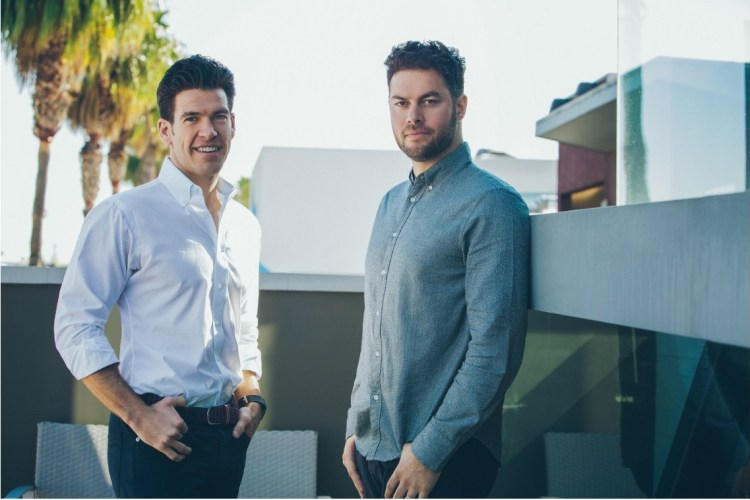 Brendan Wallace and Brad Greiwe, Fifth Wall's Co-Founders and Managing Partners, pictured at the firm's Los Angeles headquarters.
