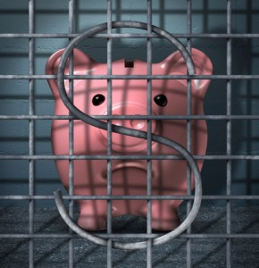 15.2.17 piggybank in a cage