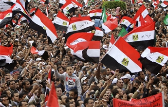 Egyptians rally in Cairo's Tahrir Square Nov. 18 in a protest dominated by the Muslim Brotherhood. The Islamist organization — banned under...