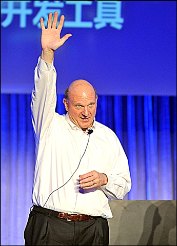 Microsoft's Steve Ballmer isn't (yet) waving permanent goodbye. AP
