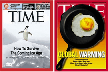 Climate alarmism has been a regular feature on Time Magazine covers since the 1970s.