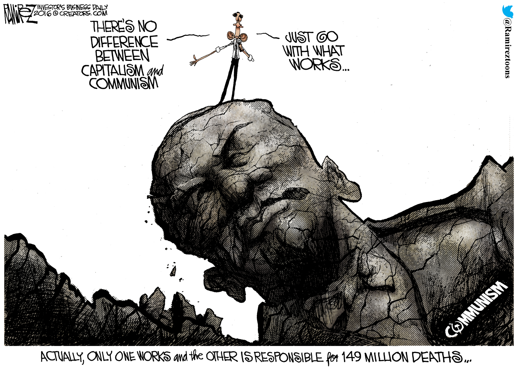 Ramirez Cartoon The Difference Between Capitalism And