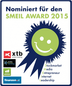 Nominiert für den Smeil Award 2015