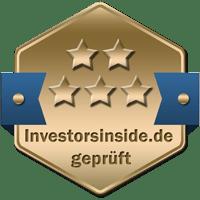 Prüfsiegel Gold Broker Vergleich Investors Inside