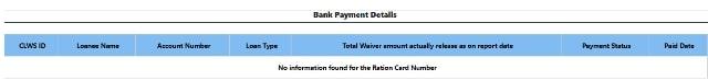 Bank Payment Details