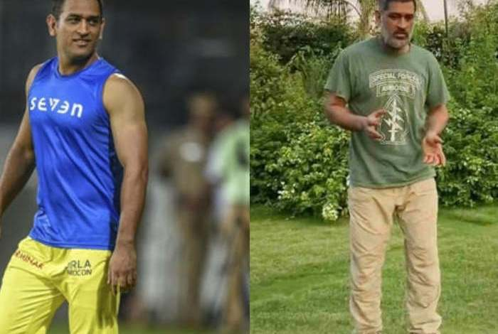 ms dhoni new hairstyle photos