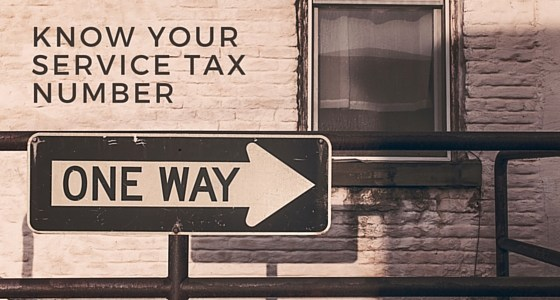 Know Your Service Tax Number Online