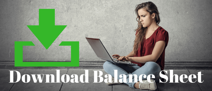 How to download balance sheet of a company ?
