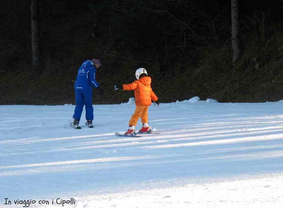sciare con bambini