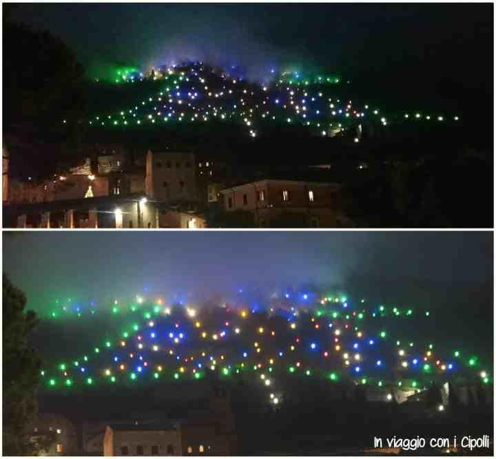 Natale in Umbria Albero di Gubbio
