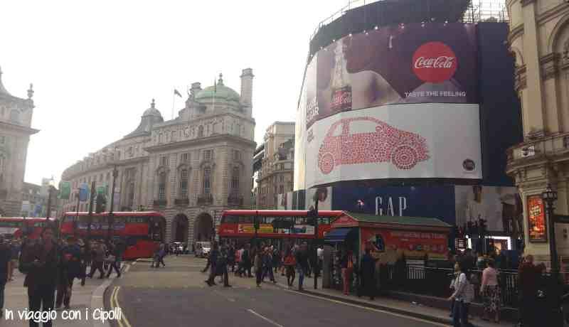 Londra con i bambini Piccadilly Circus