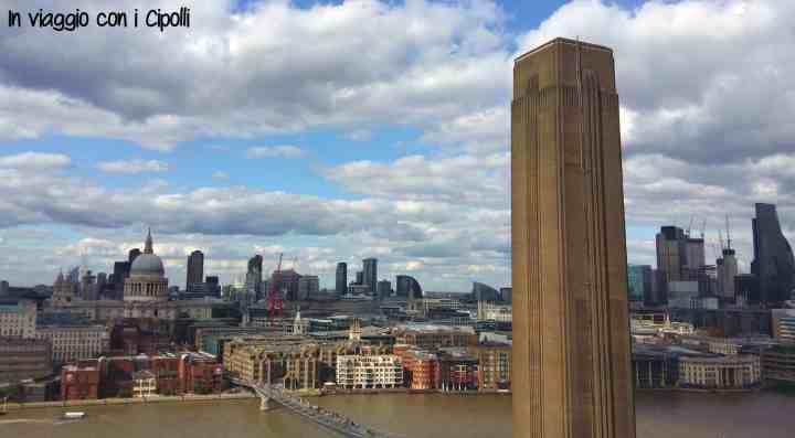Viaggio a Londra veduta da Tate Modern