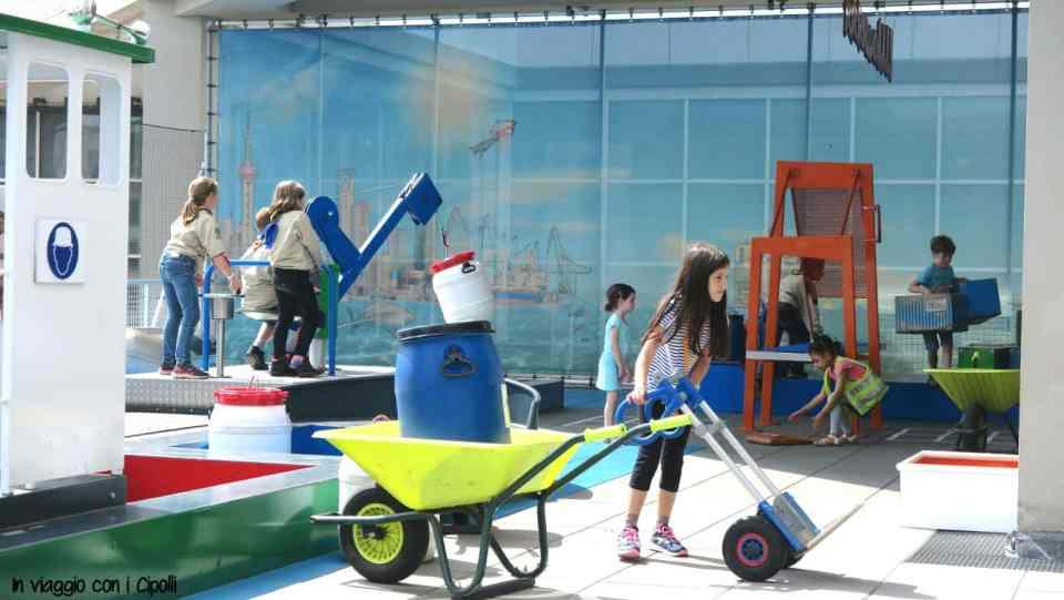 Bambini che giocano museo marittimo Rotterdam