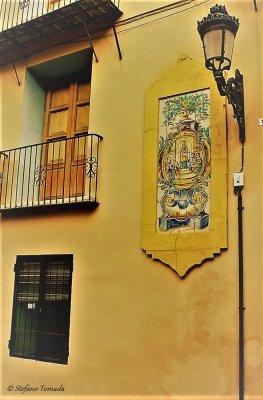 Viaggio a Valencia, angolo caratteristico della Ciutat Vella (Spagna)