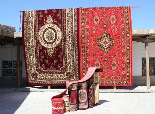 Viaggio in Uzbekistan, tappeti a Bukhara