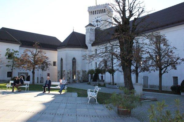 Viaggio a Lubiana, cortile interno del Castello (Slovenia)