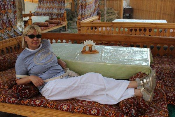 Viaggio in Uzbekistan, un tapchan a Khiva