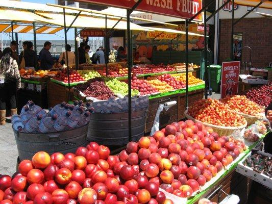 Viaggio a San Francisco, mercato della frutta e verdura (Stati Uniti)