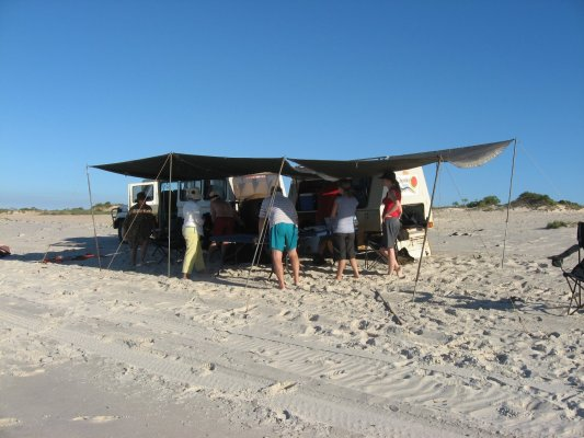 Viaggio in Australia, picnic lunch sulla spiaggia di Cape Leveque (Western Australia, Australia)