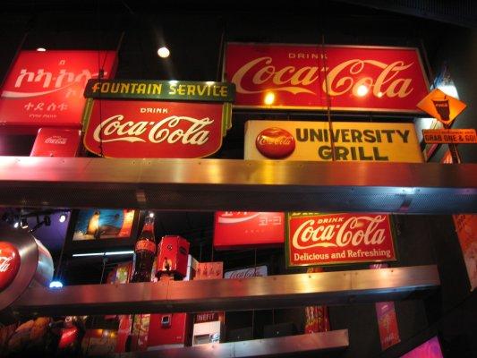 Viaggio ad Atlanta, interno del World of Coca Cola (Stati Uniti)