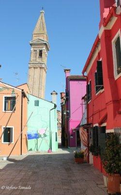 Escursione a Burano, il campanile storto (Veneto)