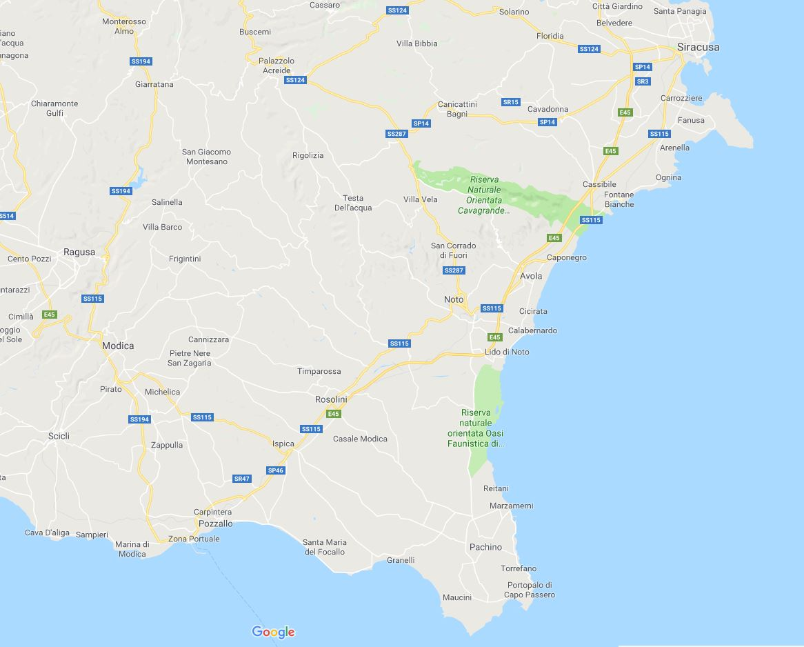 Cartina sicilia sud orientale in viaggio con ricky sicilia mappa sud est altavistaventures Image collections