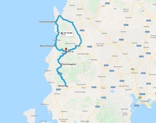 Mappa Costa Verde