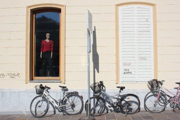 Biciclette in centro a Lubiana