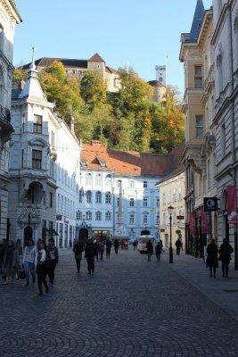 Il centro storico e il Castello di Lubiana