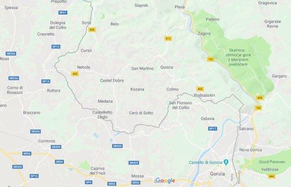 Mappa Collio sloveno