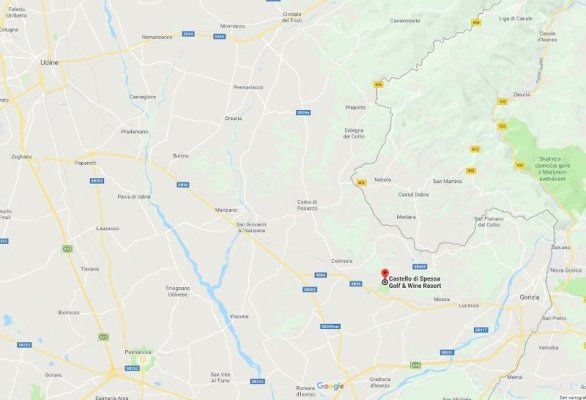 Mappa Collio Friuli