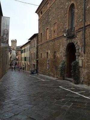 Centro storico di Montalcino in Toscana